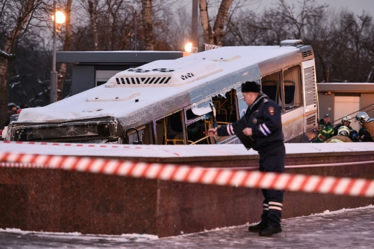 Four dead after Moscow bus ploughs into underpass