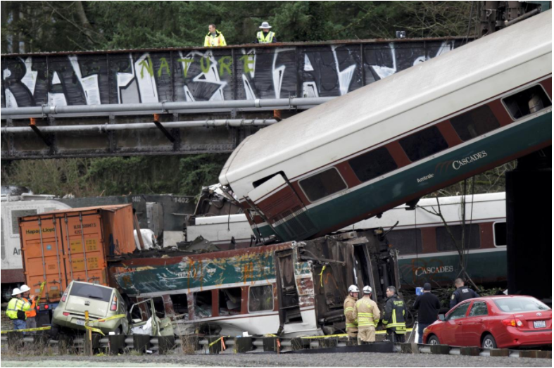 Amtrak engineer remarked on train speed 6 seconds before crash: NTSB