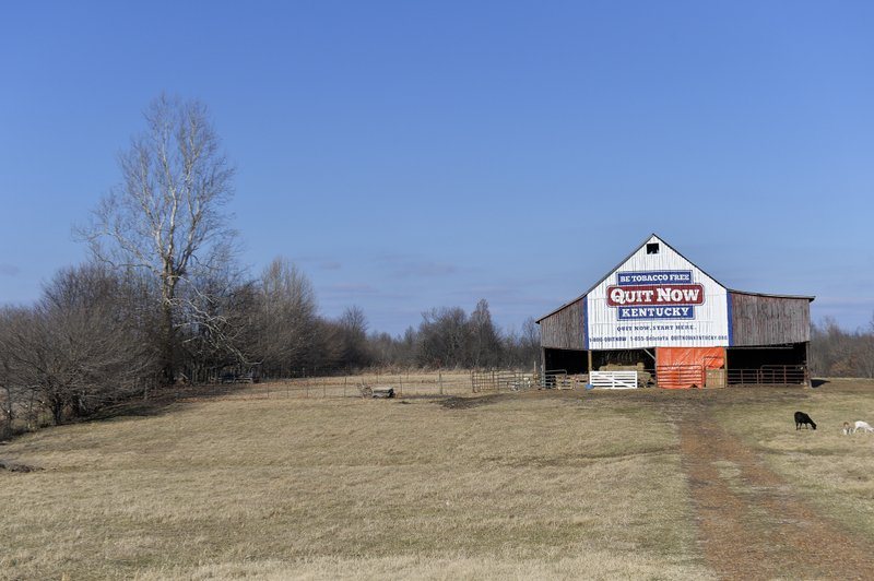 Former tobacco barns repurposed for anti-smoking message