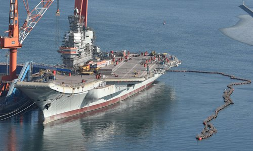 Speculation grows over China's first homemade aircraft carrier