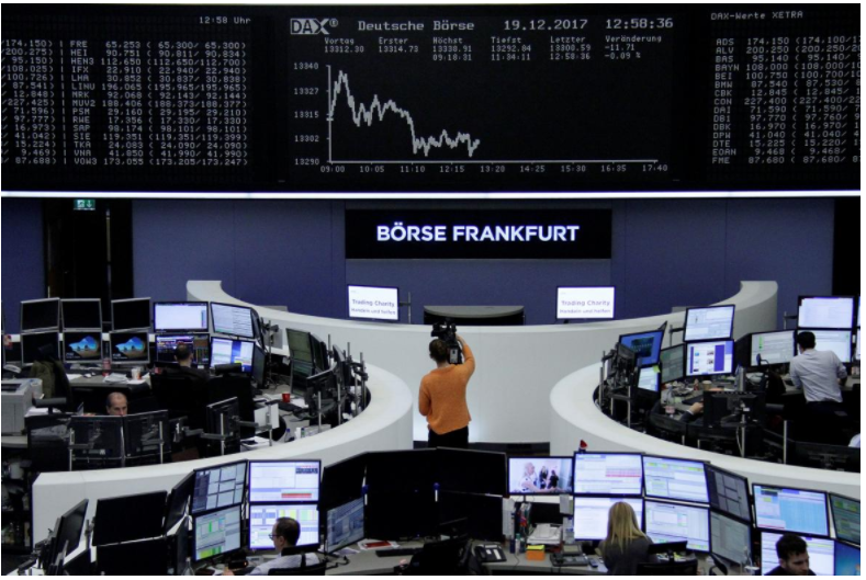 Stocks dip on tech; US tax plan vote looms