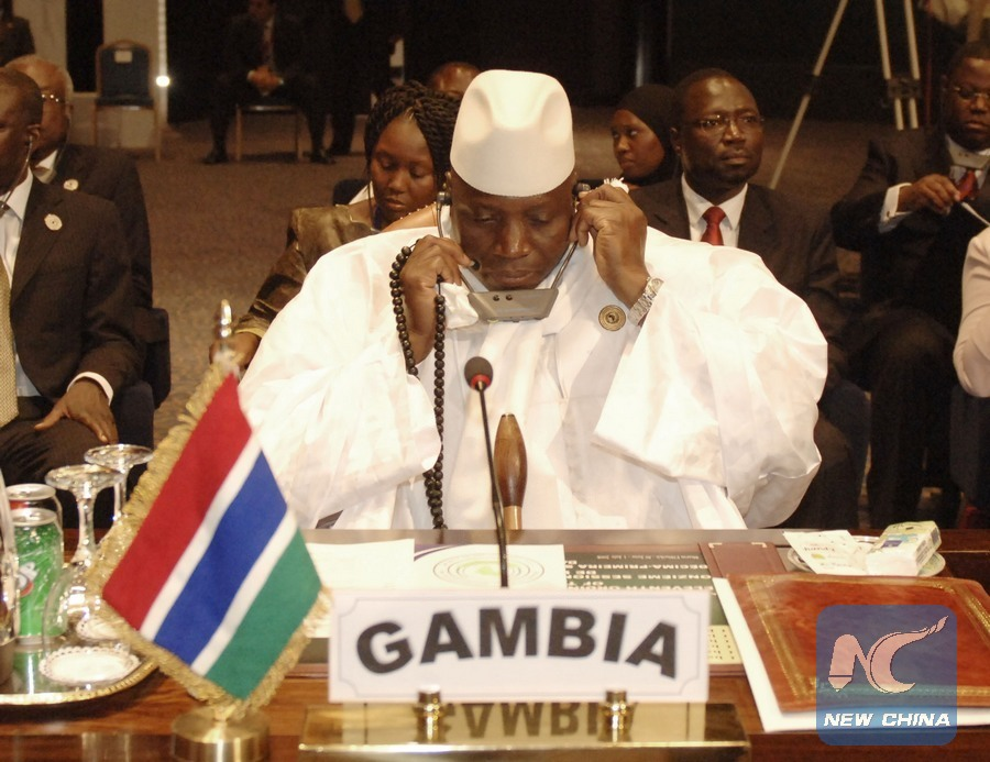 Image result for Gambian president  xinhua