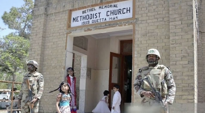 At least seven killed, 25 injured in Pakistan church attack