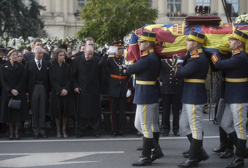 Romanians join European royals for last king's state funeral