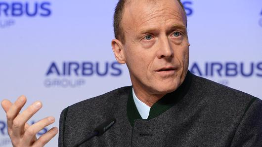 Airbus says CEO Enders to step down in April 2019