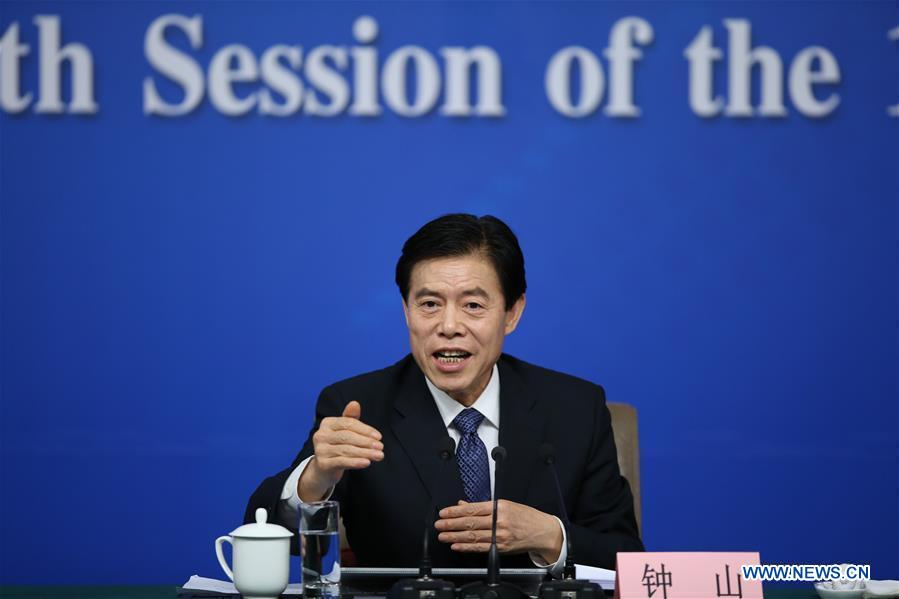 Image result for Chinese Commerce Minister Zhong Shan