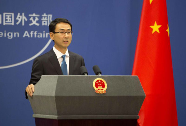 Image result for China's foreign ministry spokesperson Geng Shuang