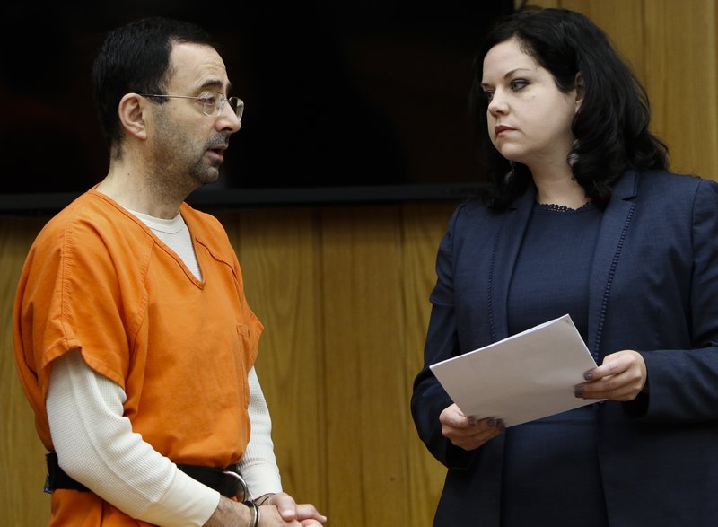 Michigan sports doctor gets 60 years in prison