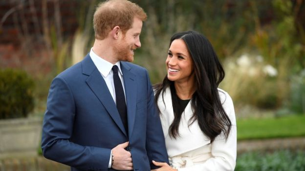 Harry and Meghan's first appearance as engaged couple