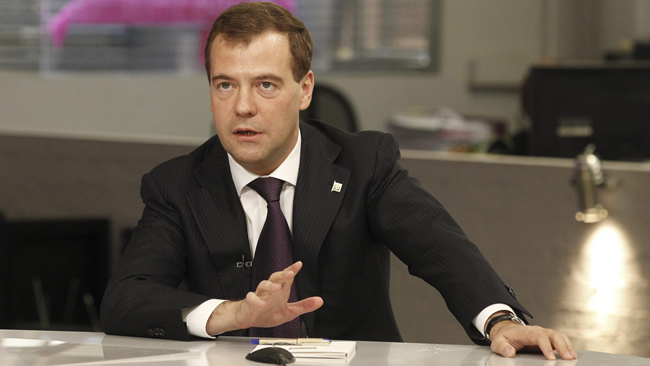 Russian PM Medvedev: exports of the country in three quarters of 2017 grew by a quarter