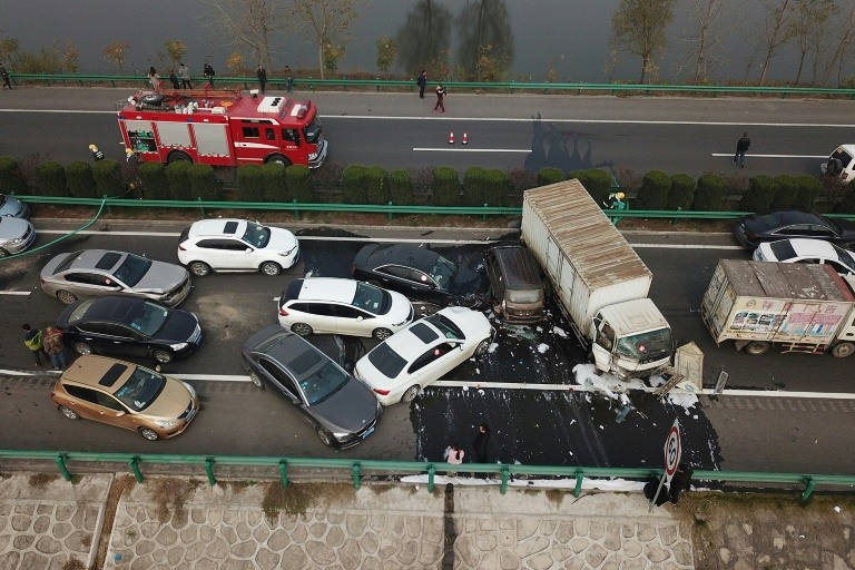 Horrific highway pile-up kills 18 in China