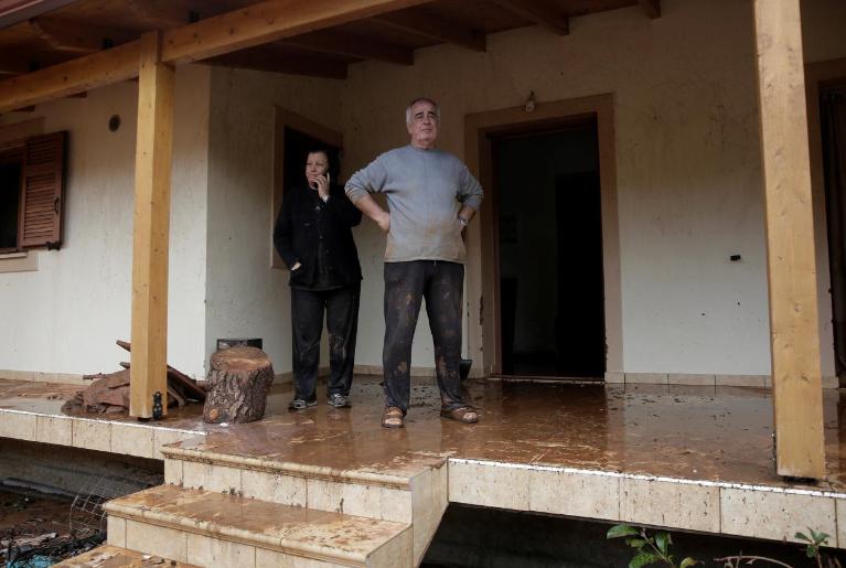 At least 15 dead in flash floods on Greek coast