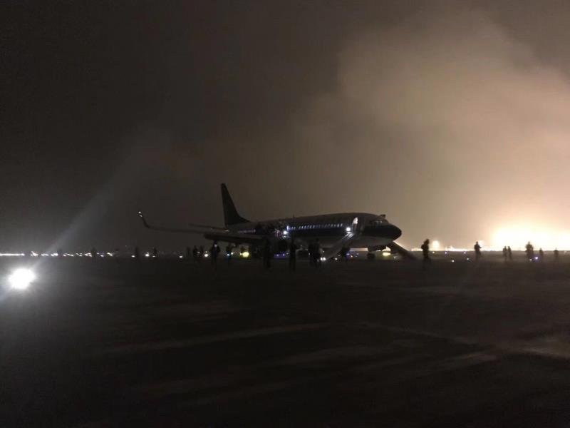 Fire reported at China Southern Airline flight