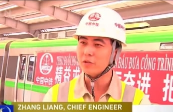 Chinese firm helps Vietnam build its first urban elevated rail