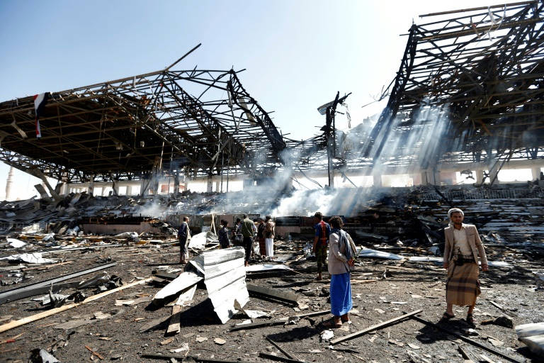 Civilians wounded in Saudi-led strikes on Yemen capital: witnesses