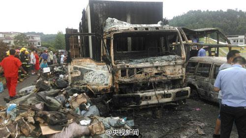 9 sentenced for fatal highway explosion in Central China