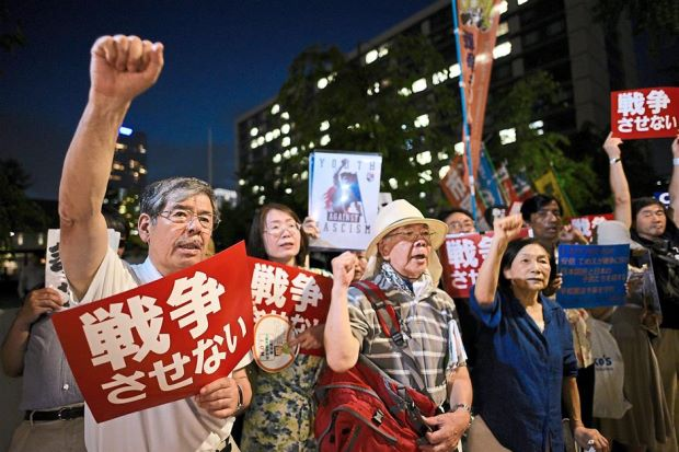 Tokyo protesters call for peace in East Asia region