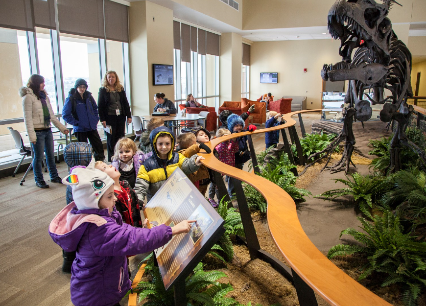 Dinosaur remains largely unnoticed at Sheridan College