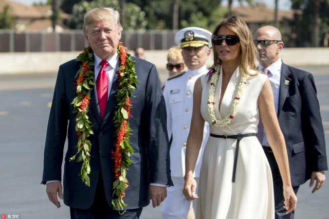 Trump visits Hawaii's USS Arizona memorial