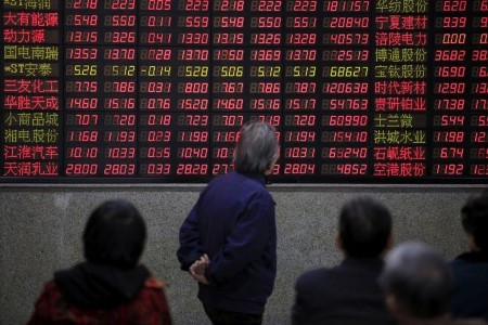 Foreign holdings of China stocks hit record, boosting blue chips