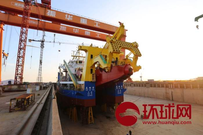 China to unveil Asia's most advanced cutter-suction dredger 'Tiankun'