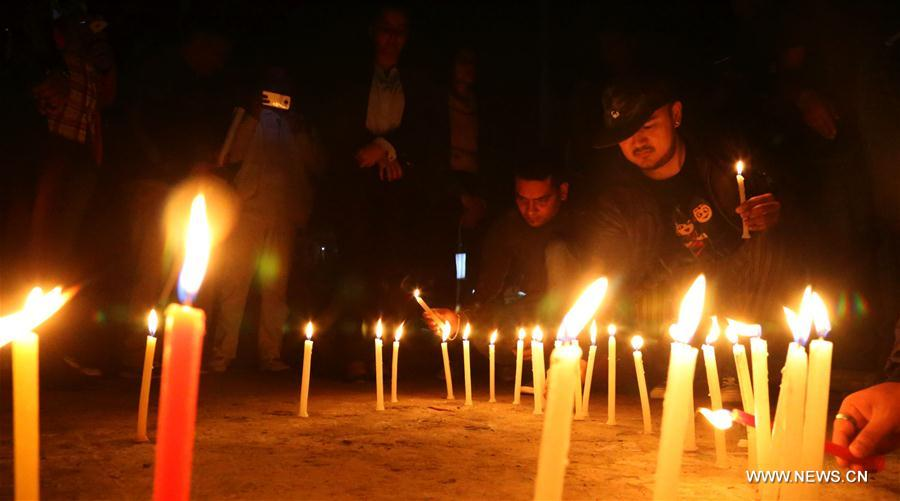 Candlelight vigil held for bus accident victims in Nepal