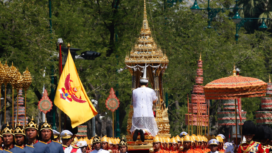 Thai king's 5-day funeral, yearlong mourning ends Sunday