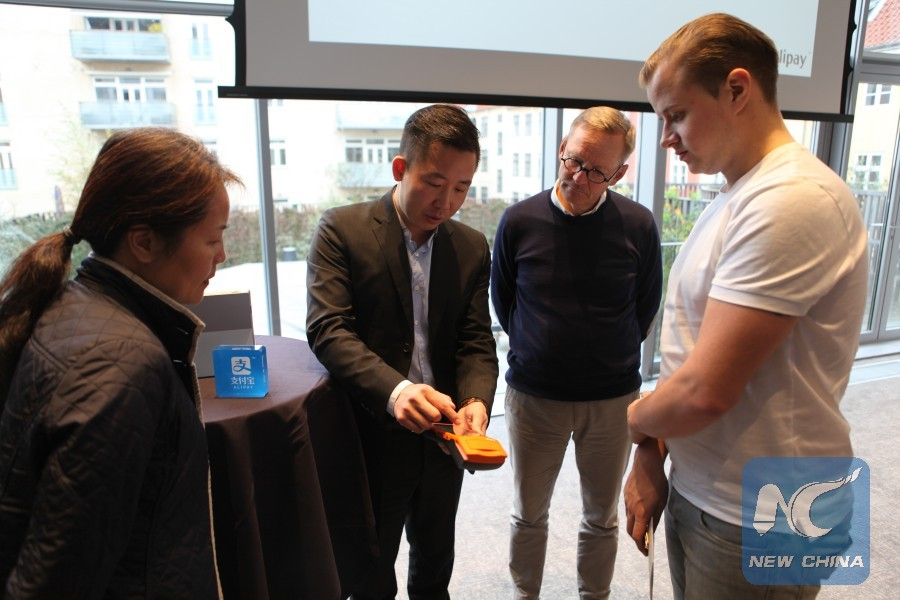 China's Alipay mobile payment introduced in Denmark