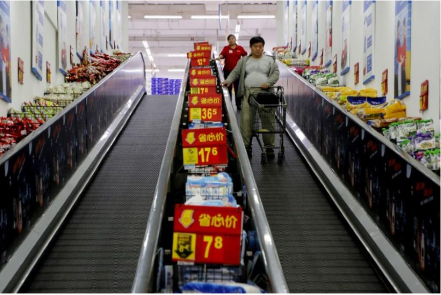 China shoppers rein in spending on cookies to pop drinks