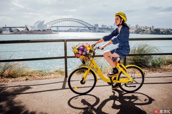 Ofo launches bike-sharing service in Sydney
