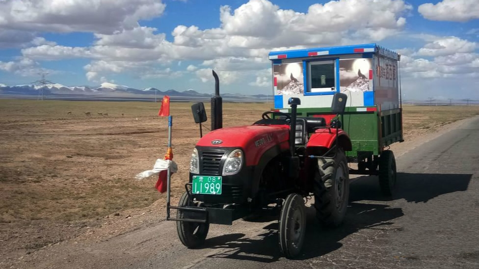 To Tibet on a tractor: Chinese man spends 100 days to reach dream destination