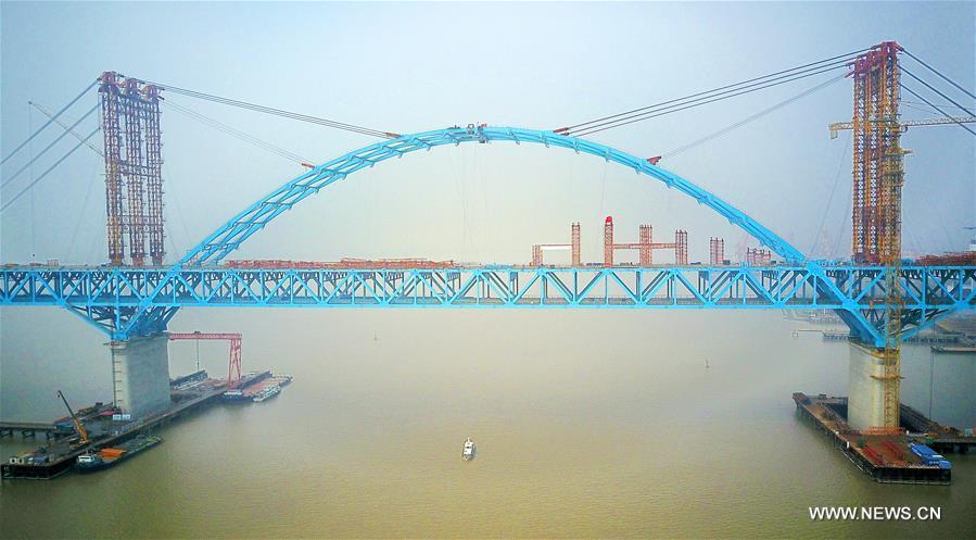#CHINA-JIANGSU-TIANSHENGGANG CHANNEL BRIDGE-CLOSURE (CN)