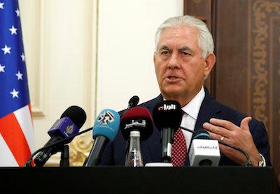 Tillerson seeks Arab help in US effort to isolate Iran