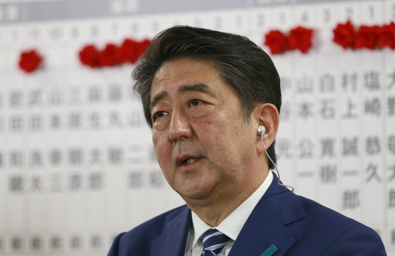 Japanese Prime Minister Abe heads to election win