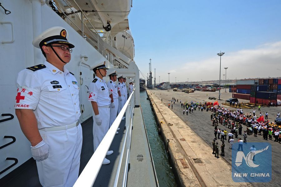 Chinese hospital ship Peace Ark in Angola to provide free medical services