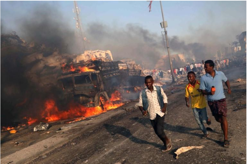 Death toll from Somalia bombings rises to 358