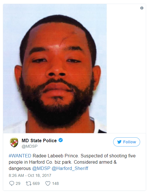 Three dead in shooting at Maryland workplace: sheriff