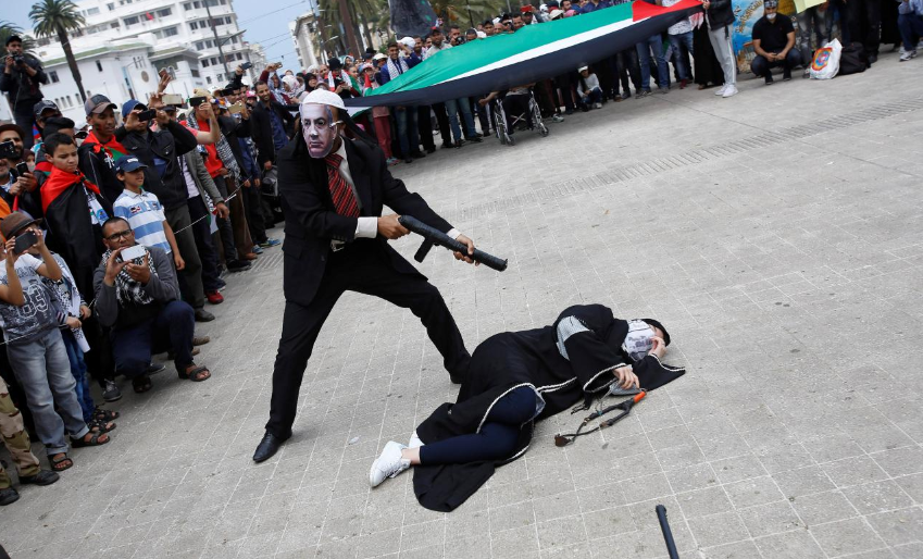 Thousands of Moroccans protest against US Jerusalem embassy move