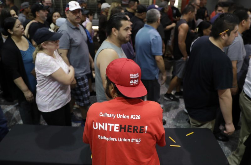 'Wake-up call': Vegas casino workers vote on citywide strike