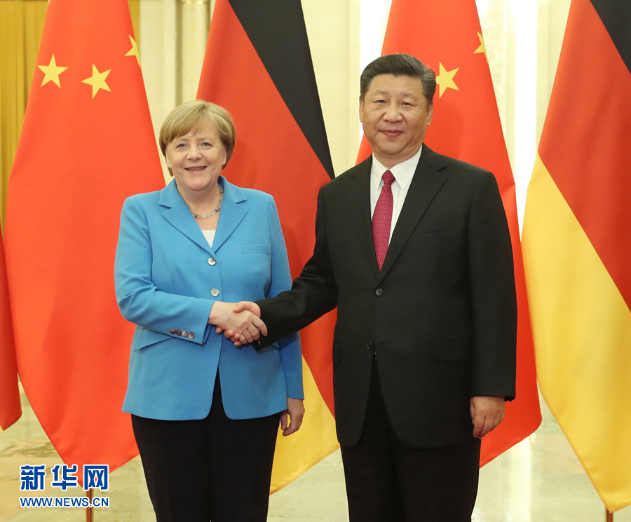 Xi meets Merkel, calls for China-Germany ties to reach new high