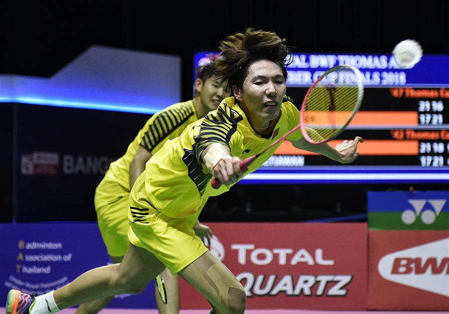 Team China advances to final of BWF Thomas Cup 2018