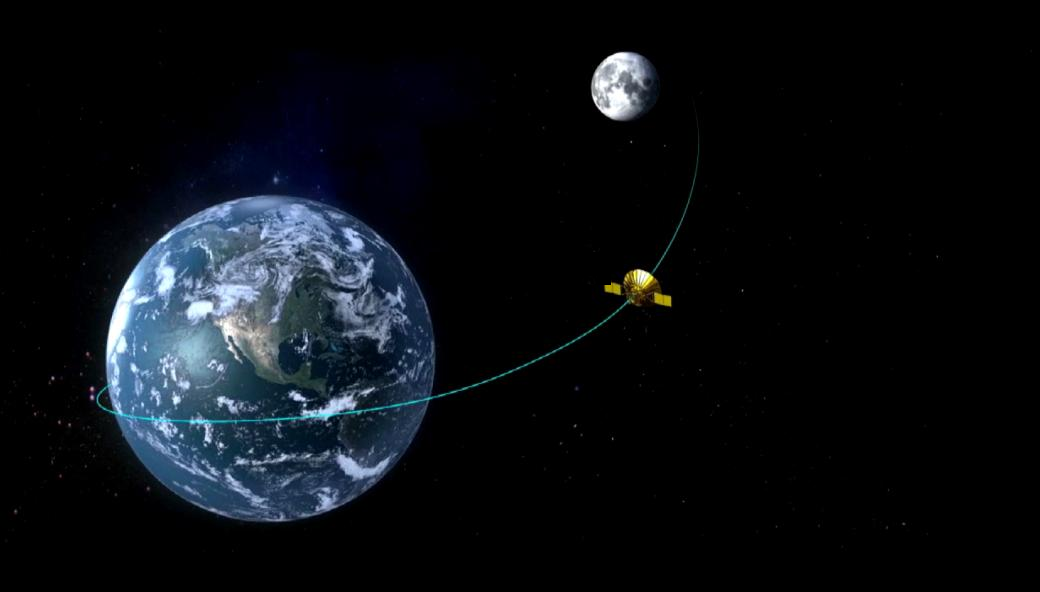 Chinese relay satellite brakes near moon for entry into desired orbit