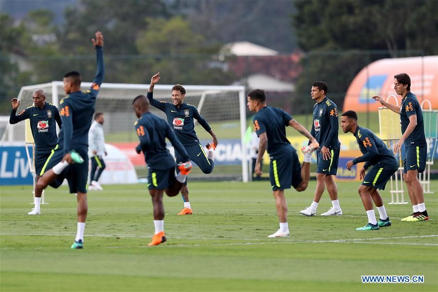 Training session of Brazilian national soccer team ahead of Russia World Cup