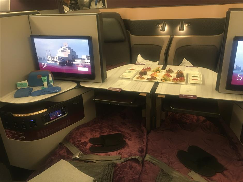 Qatar Airways offer luxury Qsuite on Shanghai flights
