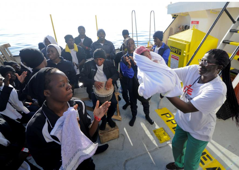 Baby 'Miracle' born on rescue ship as Italy arrivals surge