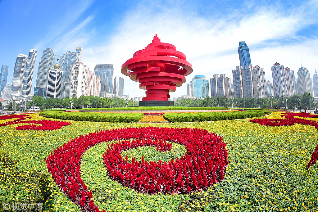 Qingdao is in full bloom as SCO summit approaches