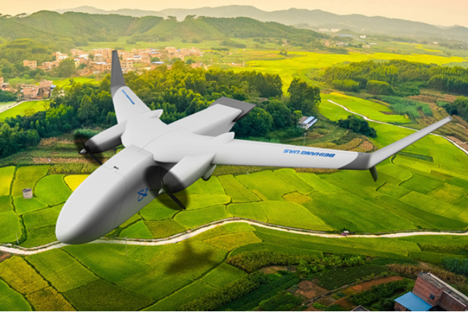 Biggest civilian drone designed for couriers