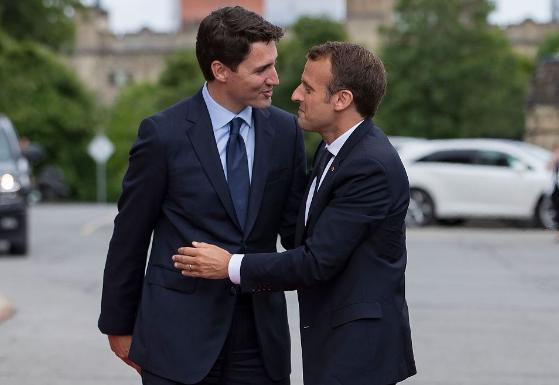 Justin Trudeau welcomes Emmanuel Macron to Ottawa