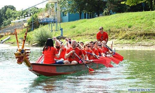 Dragon boat race held in Croatia to celebrate upcoming Dragon Boat Festival