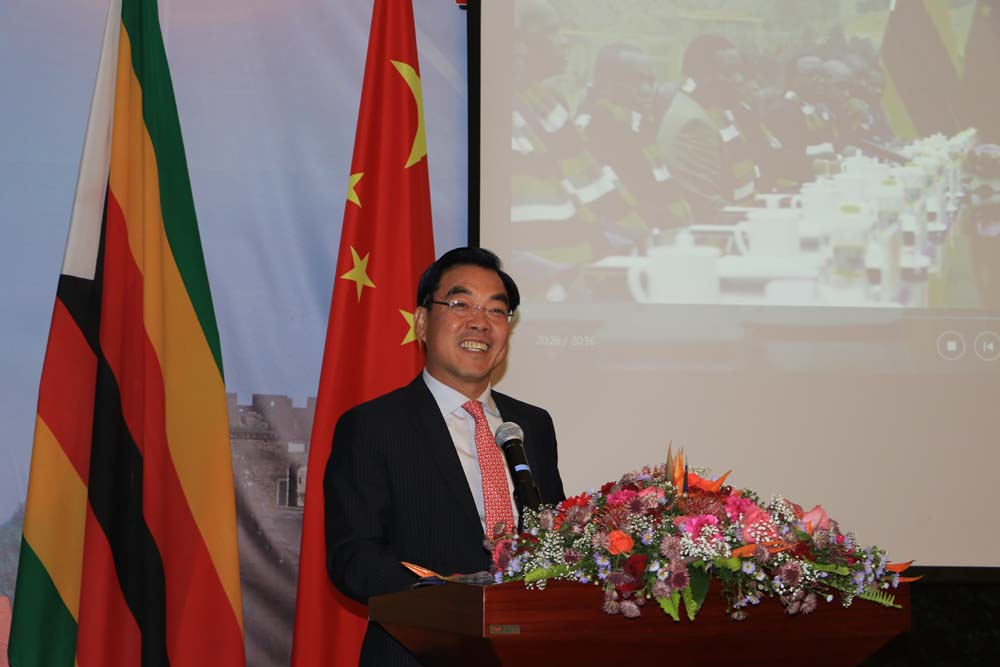 Chinese ambassador to Zimbabwe Huang Ping points out the growing need to protect the interests of Chinese tourists with the implementation of the softened visa policy on Thursday, June 7, 2018. [Photo: China Plus/Gao Junya]
